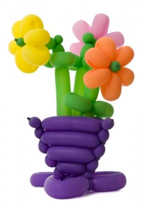 Sculpture with balloons